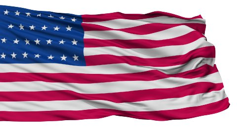 27 Stars USA Isolated Waving Flag - stock footage