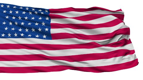 43 Stars USA Isolated Waving Flag - stock footage