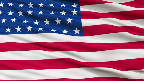 46 Stars USA Close Up Waving Flag - stock footage
