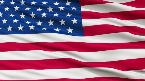 49 Stars USA Close Up Waving Flag - stock footage