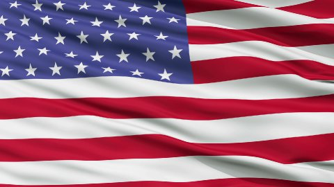 52 Stars USA Close Up Waving Flag - stock footage