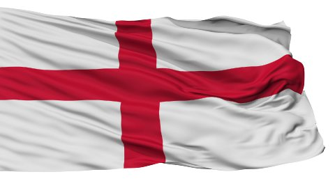 England Religious Isolated Waving Flag - stock footage