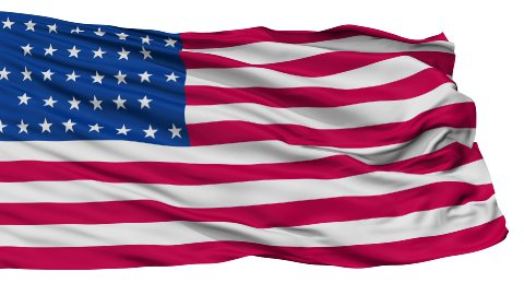 36 Stars USA Isolated Waving Flag - stock footage
