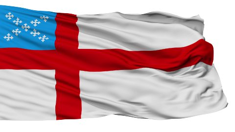 Episcopal Religious Isolated Waving Flag - stock footage