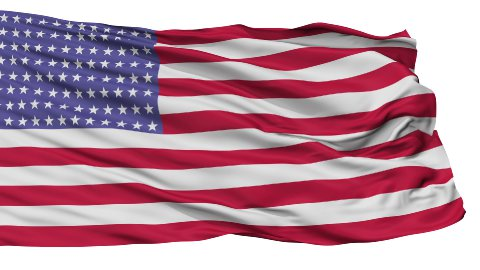 96 Stars USA Isolated Waving Flag - stock footage