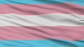 Transgender Pride Close Up Waving Flag