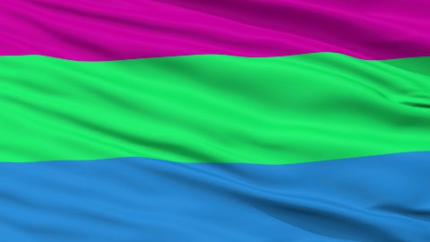 Polysexual Pride Close Up Waving Flag - stock footage