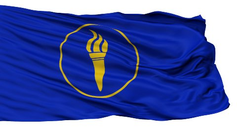 Minerva Micronation Close Up Waving Flag - stock footage