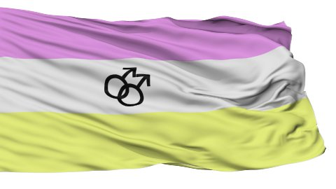 Twink Pride Close Up Waving Flag - stock footage