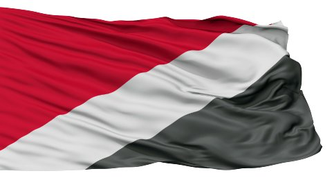 Sealand Micronation Isolated Waving Flag - stock footage