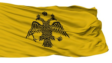Patriarch of Constantinople Religious Isolated Waving Flag - stock footage