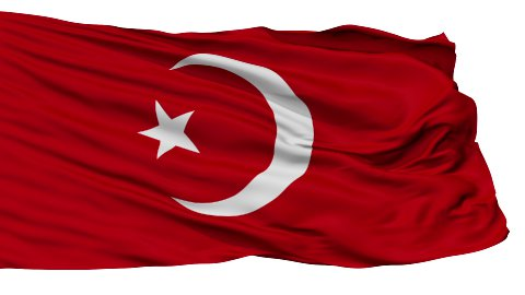 Nation of Islam Religious Isolated Waving Flag - stock footage