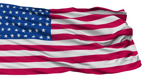 46 Stars USA Isolated Waving Flag - stock footage