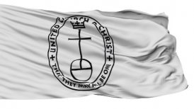 United Church Christ Religious Isolated Waving Flag
