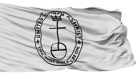United Church Christ Religious Isolated Waving Flag - stock footage