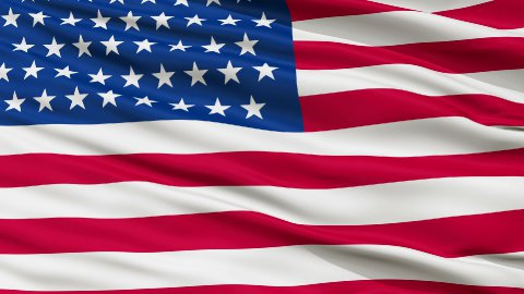 51 Stars USA Close Up Waving Flag - stock footage
