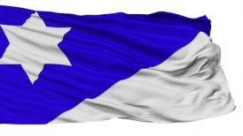 Branch Davidian Religious Isolated Waving Flag - motion graphic