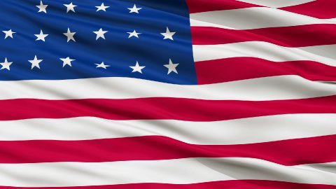 21 Stars USA Close Up Waving Flag - stock footage