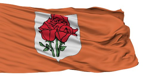 Rose Island Micronation Isolated Waving Flag - stock footage