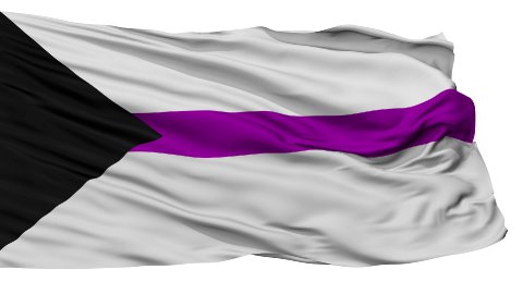 Demisexual Close Up Waving Flag - stock footage