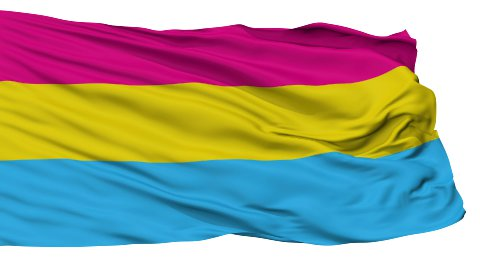 Pansexual Close Up Waving Flag - stock footage
