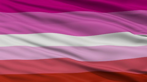 Lesbian Pride Close Up Waving Flag - stock footage