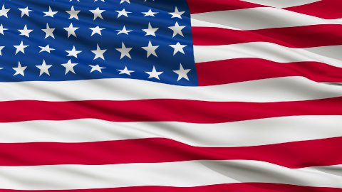 48 Stars USA Close Up Waving Flag - stock footage