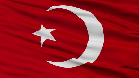 Nation of Islam Religious Close Up Waving Flag - stock footage