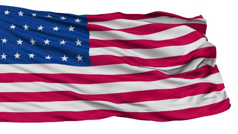 23 Stars USA Isolated Waving Flag - stock footage