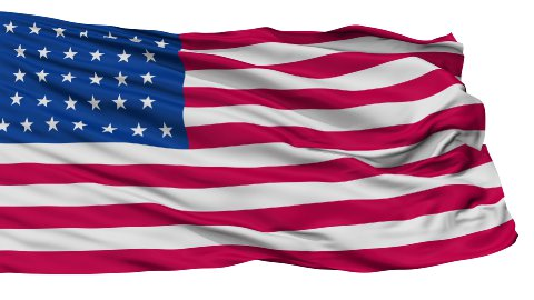 32 Stars USA Isolated Waving Flag - stock footage