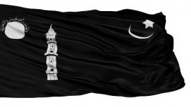 Liwa e Ahmadiyya Religious Isolated Waving Flag - motion graphic