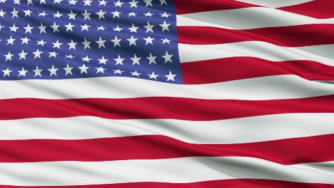 96 Stars USA Close Up Waving Flag - stock footage