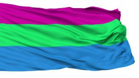 Polysexual Close Up Waving Flag - motion graphic