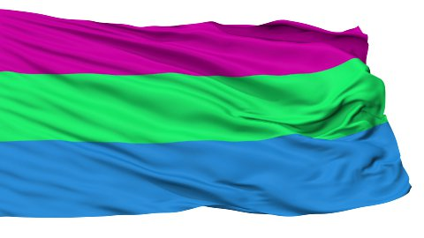 Polysexual Close Up Waving Flag - stock footage