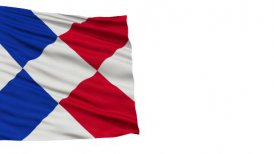 Islands of Refreshment Micronation Close Up Waving Flag - motion graphic