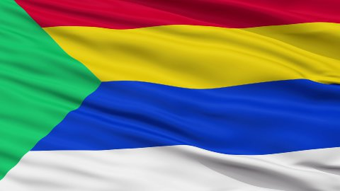 Druze Religious Close Up Waving Flag - stock footage