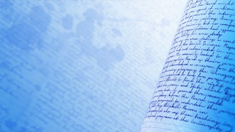 Close up of handwritten notes. Seamless background loop. - stock footage