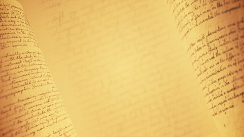 Vintage handwriting with a pen or pencil. Seamless loop. - stock footage
