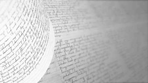Writing with a pen or pencil. Handwriting. Seamless Background Loop. - stock footage