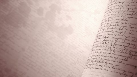 Close up of handwritten notes. Seamless background loop with Copy Space. - stock footage