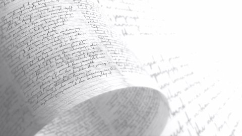 Pages covered in scrawls and doodle. Handwriting. Seamless Background Loop. - stock footage