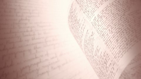 Rough handwriting in sepia. Seamless loop. - stock footage