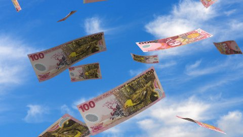 Falling New Zealand Dollar - stock footage