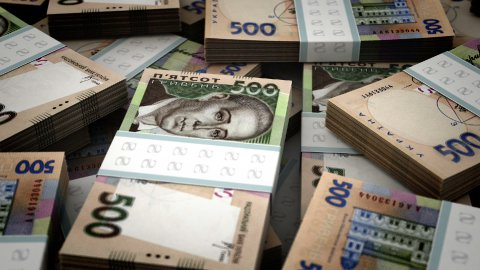 Stack of Ukrainian Hryvnia - stock footage