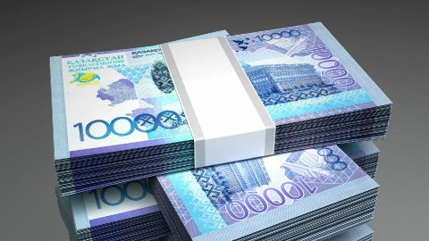 Stack of Kazakh Tenge - stock footage