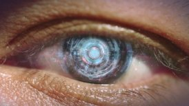 Eye of cyborg. - motion graphic