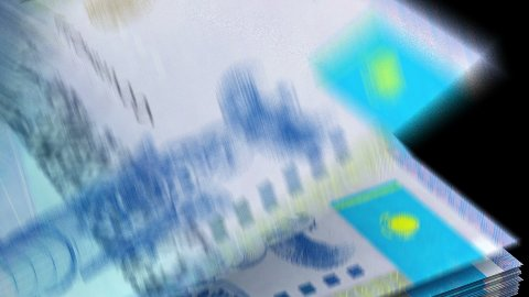 Counting Kazakh Tenge - stock footage