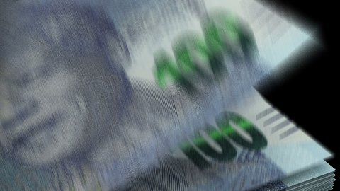 Counting South African Rands - stock footage