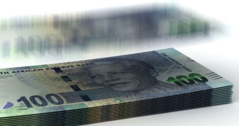 Money Fall South African Rands - stock footage
