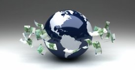 Global Business with Euro - motion graphic